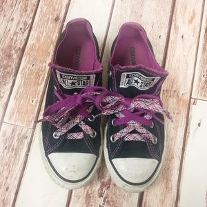 Converse Shoes - Converse All Star Chuck Taylor Black Purple Girls